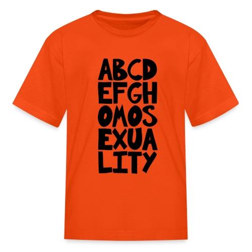 ABCDEFGHOMOSEXUALITY - Kids' T-Shirt
