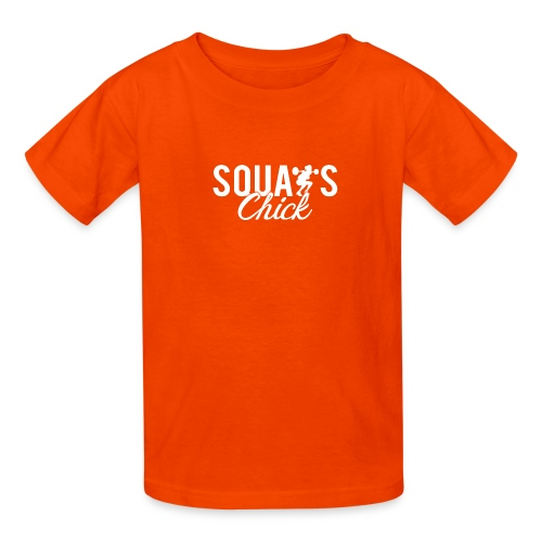 Squats Fitness Chick - Kids' T-Shirt