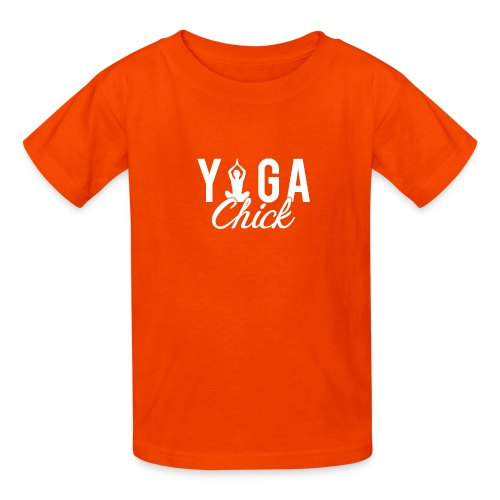 Yoga Fitness Chick - Kids' T-Shirt
