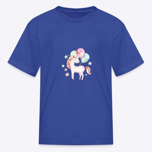 Unicorn with Baloons Mug - Kids' T-Shirt