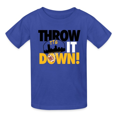 Throw it Down! (Turnover Dunk) - Kids' T-Shirt