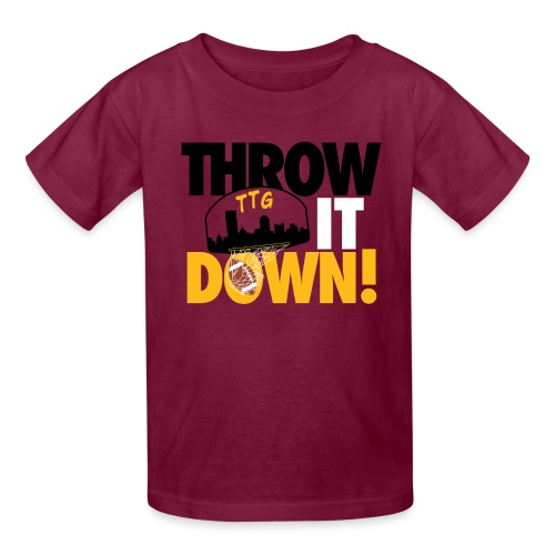 Throw it Down! (Turnover Dunk) - Kids' T-Shirt