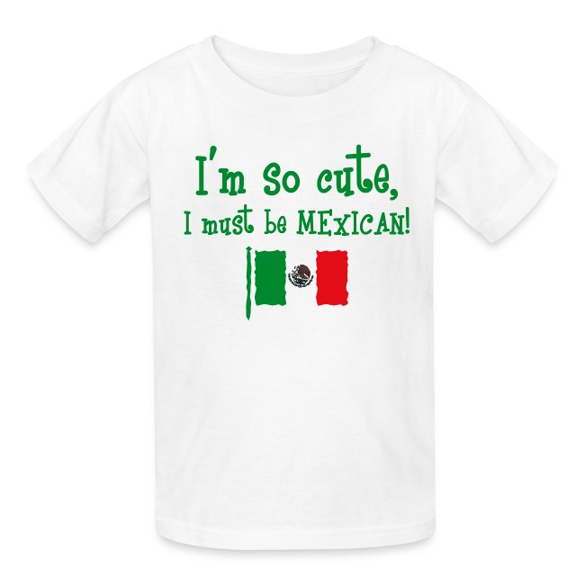 Mexico text Pink Kids T-Shirt