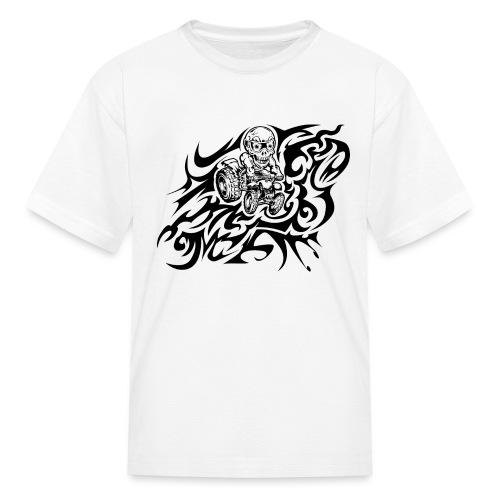 Flamed Skully Quad - Kids' T-Shirt