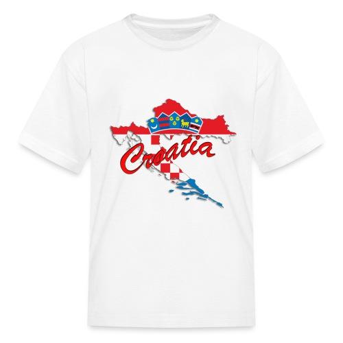 Croatia Football Team Colours T-Shirt Treasure Des - Kids' T-Shirt
