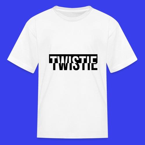 Inverted Twistie Logo Black - Kids' T-Shirt