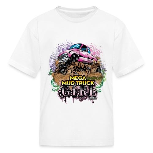 Mega Mud Truck Girl - Kids' T-Shirt