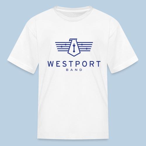 Westport Band Blue on transparent - Kids' T-Shirt