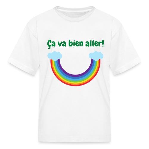 Ca va bien aller! (arc-en-ciel à l'envers) - Kids' T-Shirt