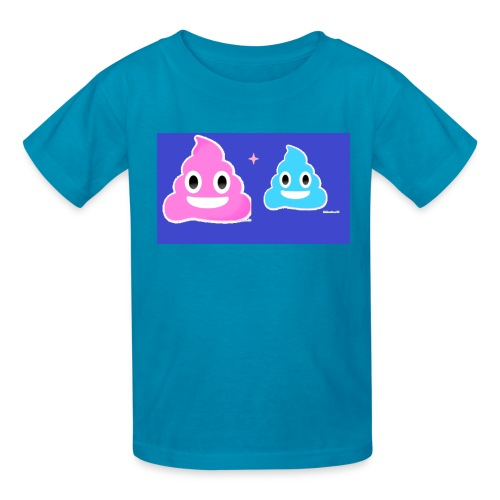 blue and pink poop - Kids' T-Shirt