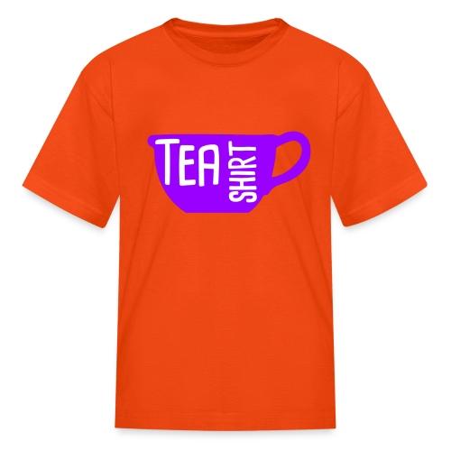 Tea Shirt Purple Power of Tea - Kids' T-Shirt