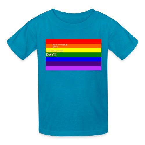 rainbowy day - Kids' T-Shirt