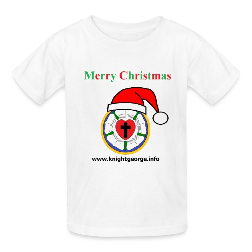 The Order of Knight George - Christmas Luther Rose - Kids' T-Shirt