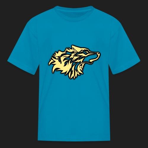 wolfepacklogobeige png - Kids' T-Shirt
