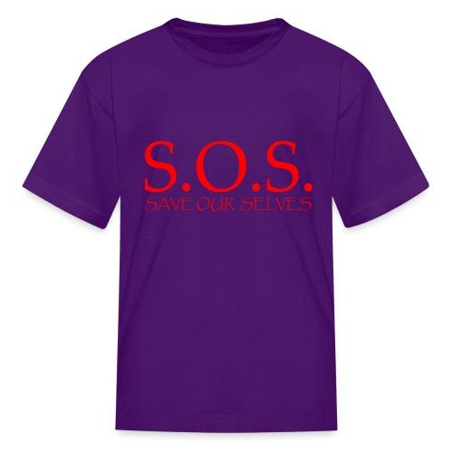 sos no emotion red - Kids' T-Shirt