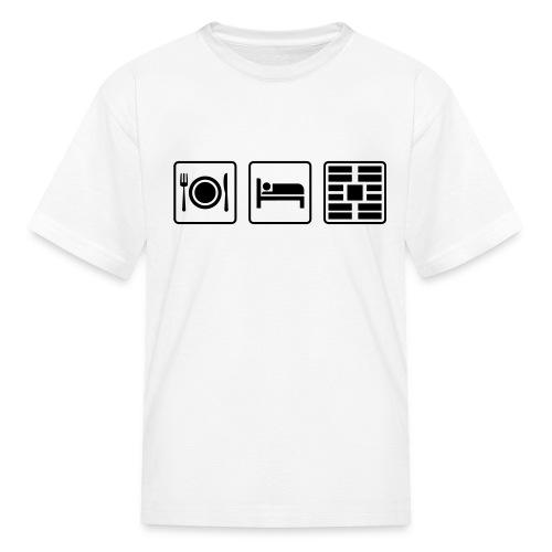 Eat Sleep Urb big fork - Kids' T-Shirt