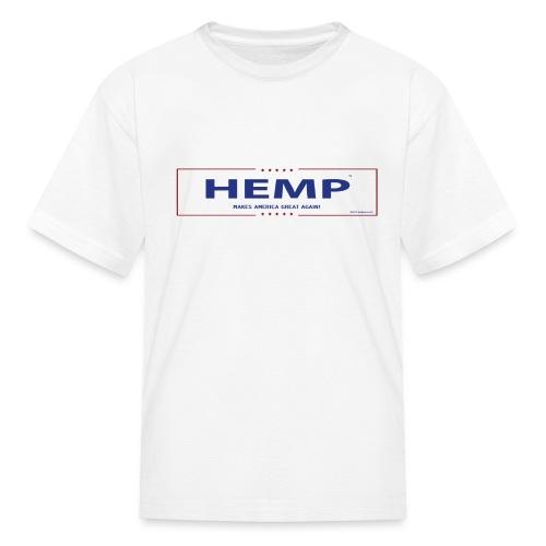 Hemp Makes America Great Again on White - Kids' T-Shirt
