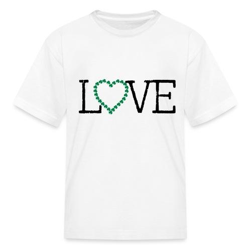 LOVE irish shamrocks - Kids' T-Shirt