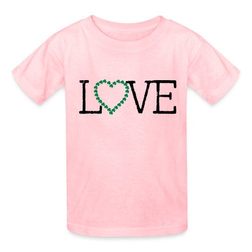 LOVE irish shamrocks - Kids' T-Shirt