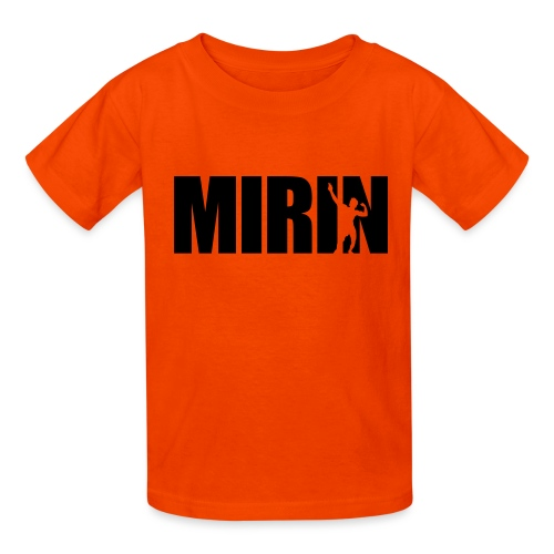 Zyzz Mirin Pose text - Kids' T-Shirt