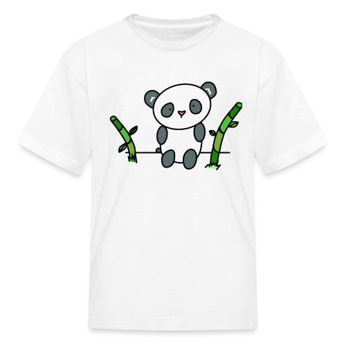Panda with Bamboo - Kids' T-Shirt