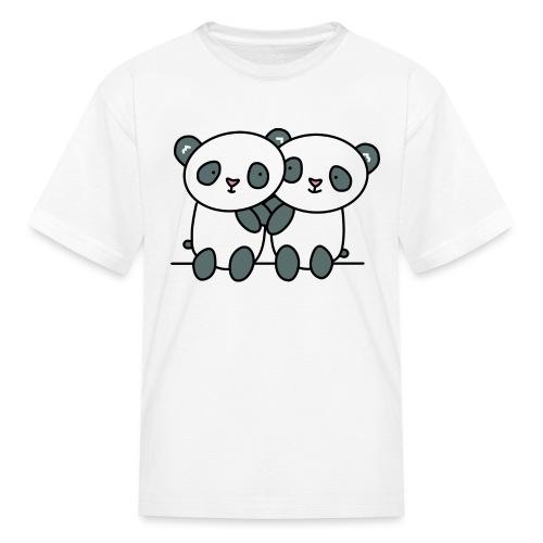 Cute Pandas Hugging - Kids' T-Shirt