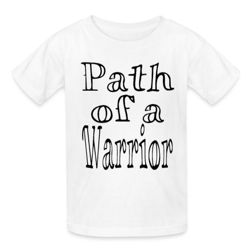 Path of a Warrior (White) - Kids' T-Shirt