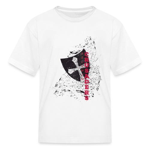 Shield-v6-Distressed-2c - Kids' T-Shirt