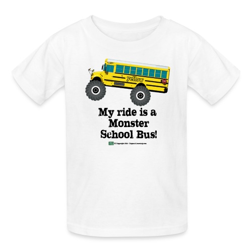 Monster Schoolbus Spreadshirt 3 png - Kids' T-Shirt