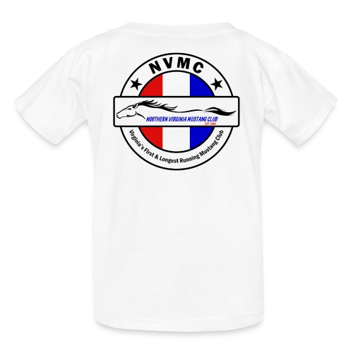 Circle logo t-shirt on white with black border - Kids' T-Shirt