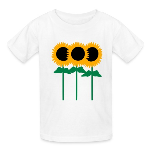 Three Cute Sunflowers With Stem And Leaves - Kids' T-Shirt