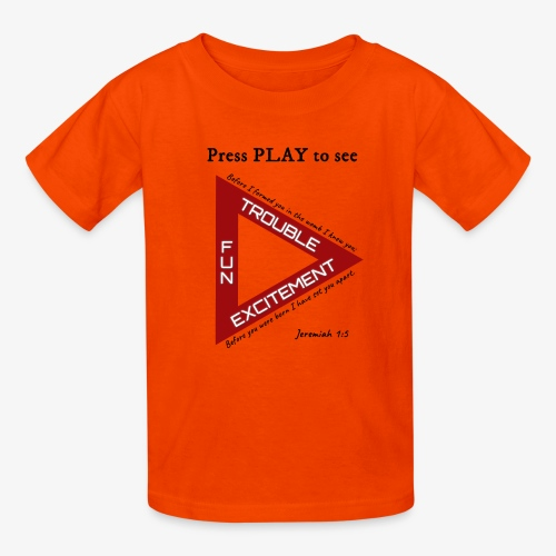 Press PLAY to See - Kids' T-Shirt