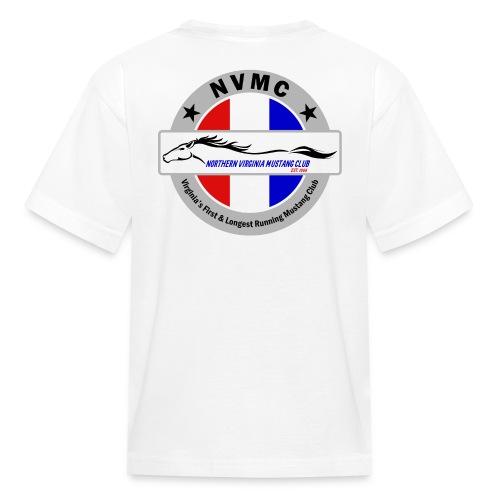 Circle logo t-shirt on silver/gray - Kids' T-Shirt