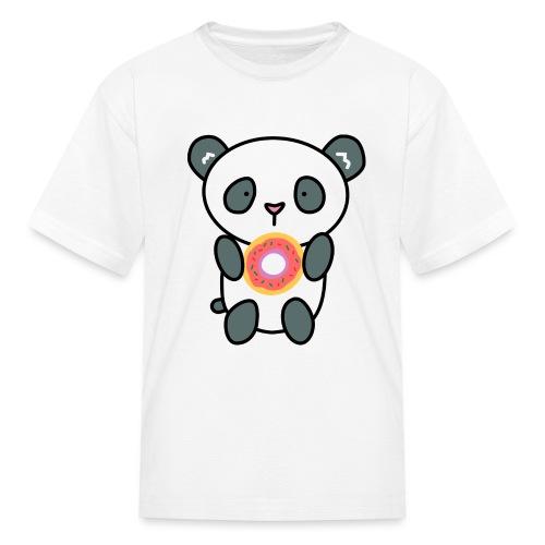 Cute Panda with Donut - Kids' T-Shirt