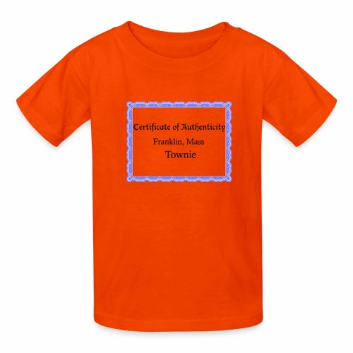 Franklin Mass townie certificate of authenticity - Kids' T-Shirt
