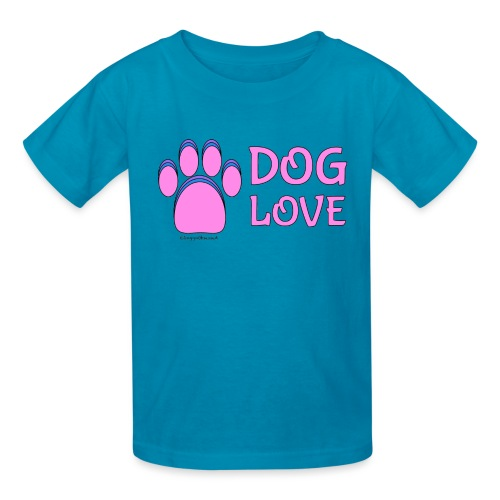 Pink Dog paw print Dog Love - Kids' T-Shirt