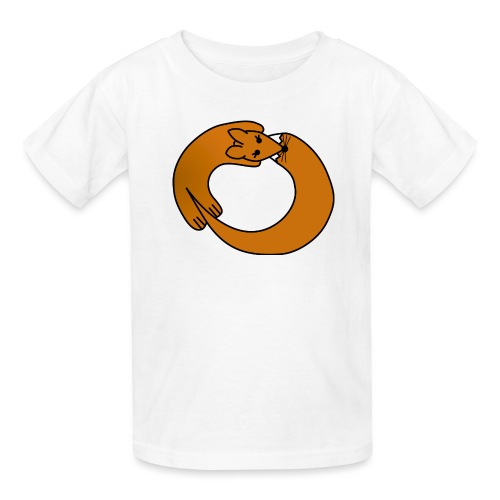 Fox Curled Up in a Circle - Kids' T-Shirt