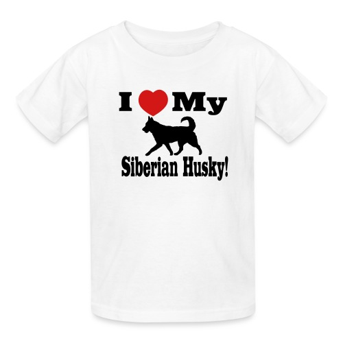 I Love my Siberian Husky - Kids' T-Shirt