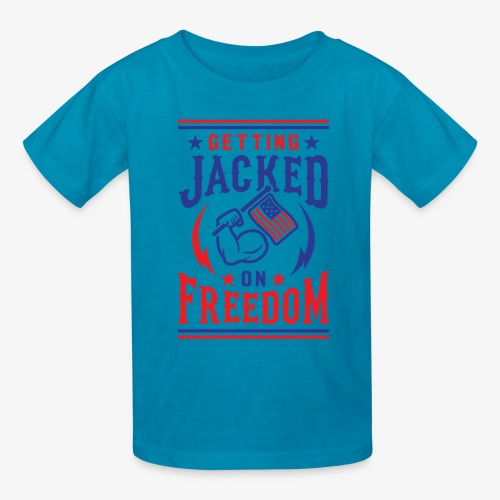 Getting Jacked On Freedom - Kids' T-Shirt