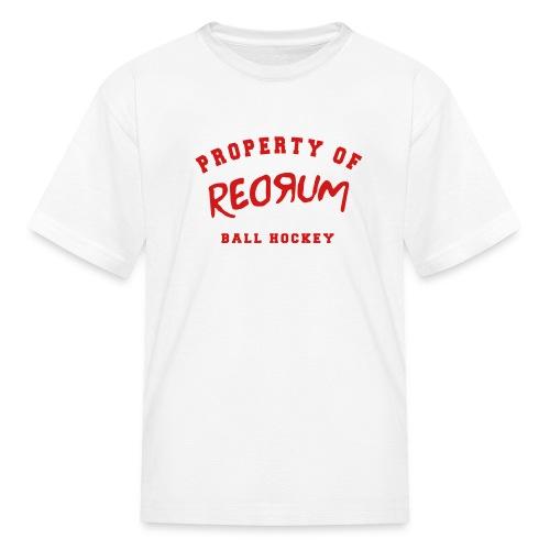 property redrum - Kids' T-Shirt