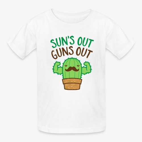Sun's Out Guns Out Macho Cactus - Kids' T-Shirt