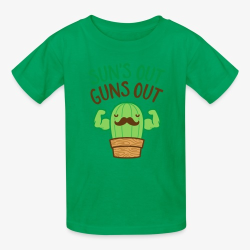Sun's Out Guns Out Macho Cactus - Kids' T-Shirt
