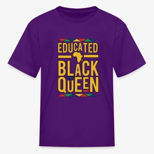 Dashiki Educated BLACK Queen - Kids' T-Shirt