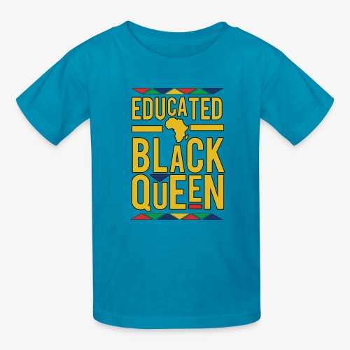 Dashiki Educated BLACK Queen - Kids' T-Shirt
