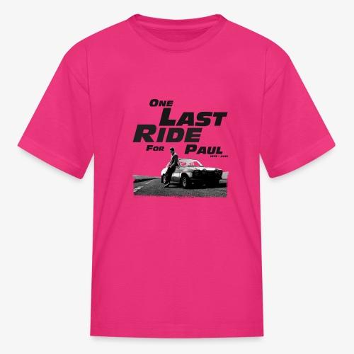 One last ride for paul walker - Kids' T-Shirt