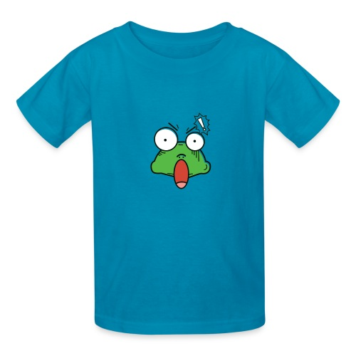 Frog with amazed face expression - Kids' T-Shirt