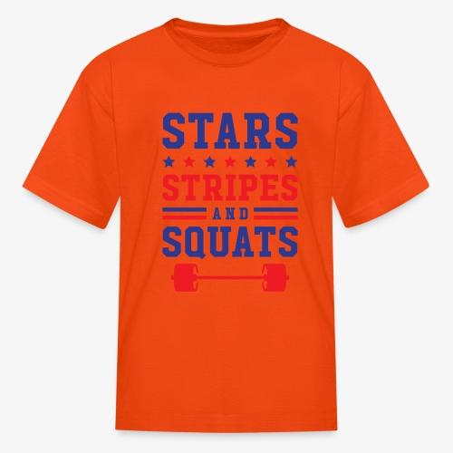 Stars, Stripes And Squats - Kids' T-Shirt