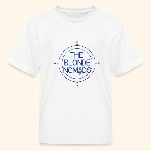The Blonde Nomads Blue Logo - Kids' T-Shirt