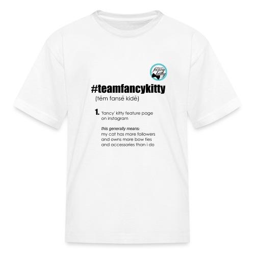 TFK-black-text2 - Kids' T-Shirt