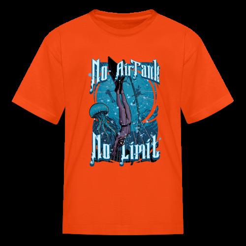 No Air Tank No Limit Freediving merchandise - Kids' T-Shirt